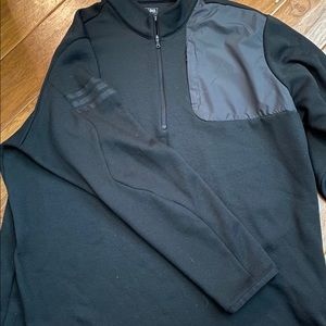 Adidas mens 1/4 zip pullover black XL